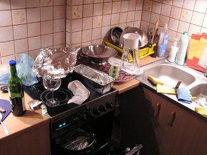 Cozinha imunda