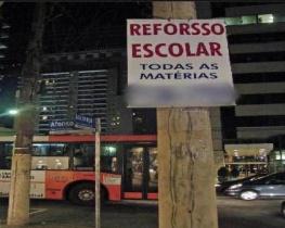 Placa Professora Erro de Português