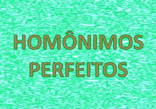 Homônimos Perfeitos. O que sãoeles?