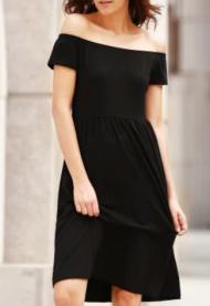 vestido evening básico prto ombro a ombro