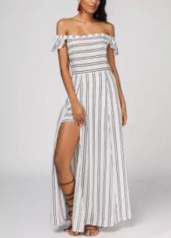 vestido maxi dresses listras