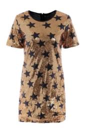 vestido vinho estrelas metalizado