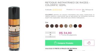 RETOQUE INSTANTÂNEO PARA CABELOS