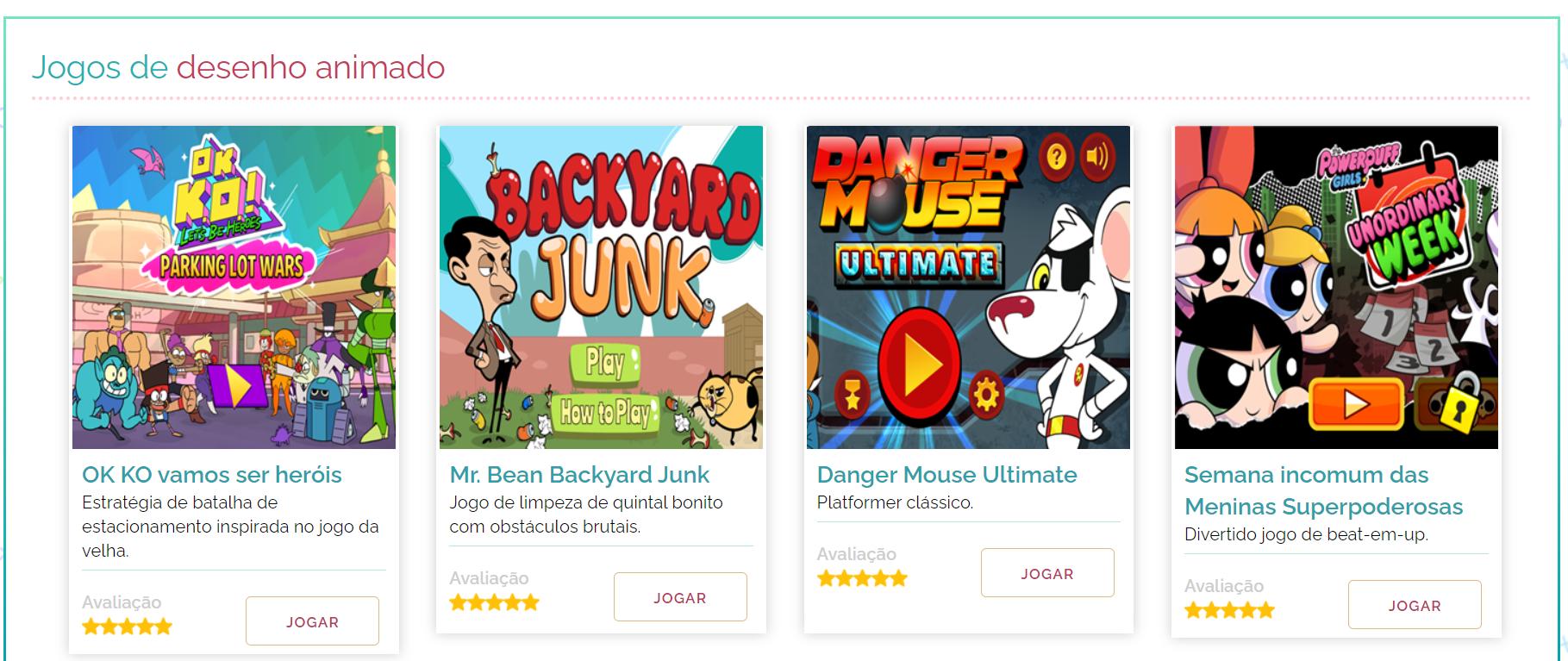 jogos de desenho animado