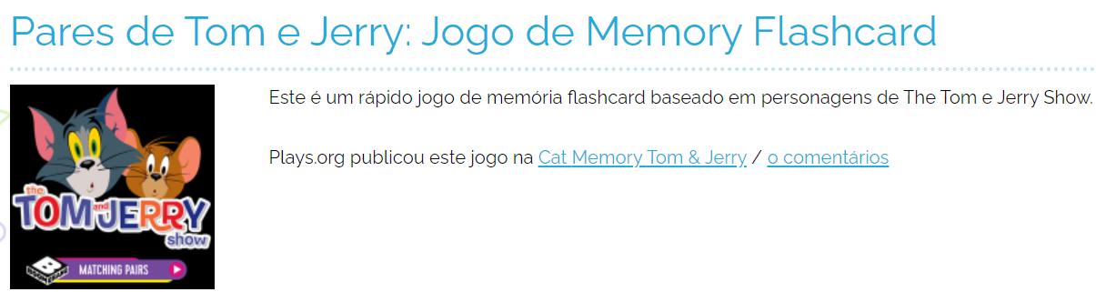 jogos on line da memória