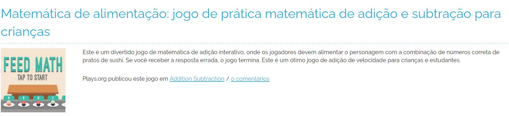 jogos on line matemática para criança