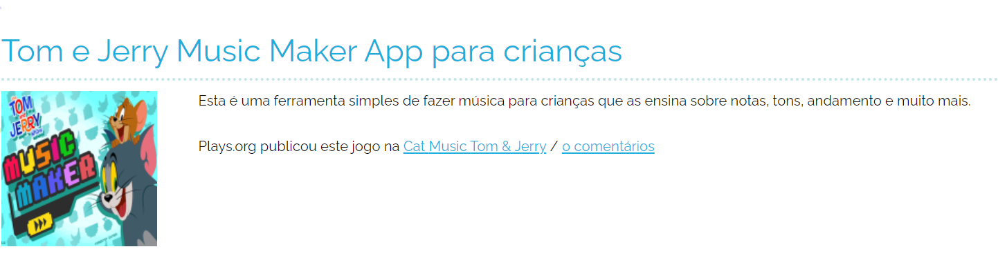 jogos on line música para crianças