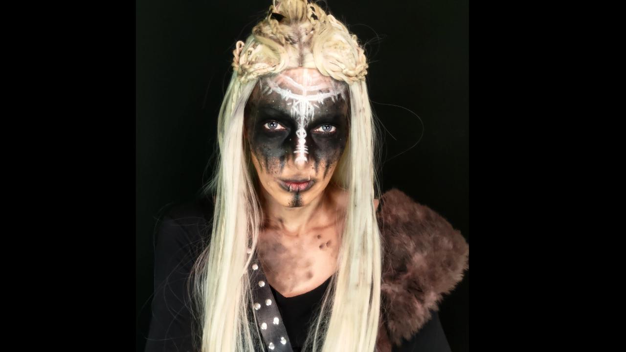 lagherta maquiagem viking
