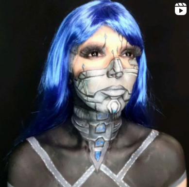 maquiagem robô